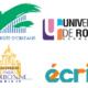 logos du projet écri+ et des nouveaux partenaires : université d'Orléans, Université de Rouen, Sorbonne Université.