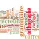 nuage de mots en lien avec le français